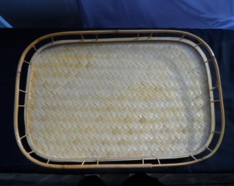 """CLEARANCE Serving Tray Natural Materials,  18 by 12""""    1022"""