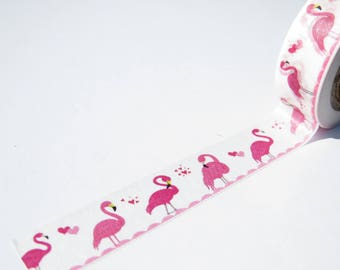 Flamingo Washi Tape. A Pretty Pink Flamingo Design Kawaii Washi Tape