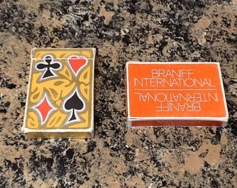 Vintage Braniff International Airline playing Cards