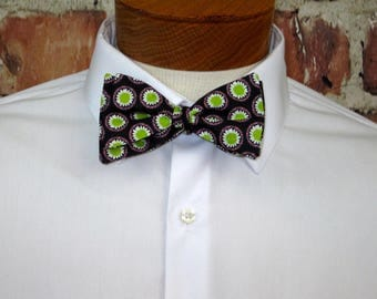 Lime Green and Purple Groovy Bowtie