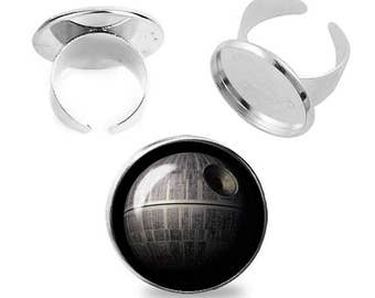 Death Star Ring Star Wars Adjustable ring Deathstar Jewelry Fanboy Fangirl