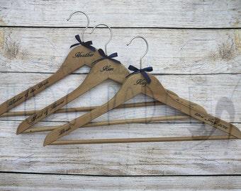 Laser engraved coat hanger ideal for weddings