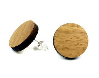 Wooden earrings / wood jewelry | Walnut |  Sterling Silver 925 earrings | Natural jewelry | Ear jewelry