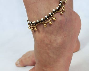 Anklets - brass (brass) & magnesite
