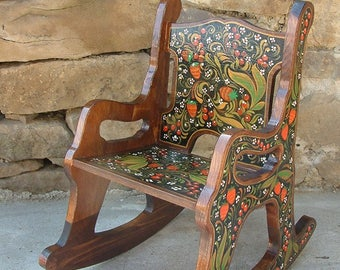 Rocking Chair Childrenu0027s Wooden Rocking Chair Hand Painted Kids Rocker