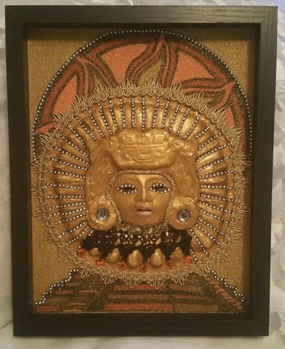 Handmade and Crafted, Original, Venetian Style Mask set in 11 x 14 inch Wooden Shadowbox created by Maskweaver, Soraya Ahmed