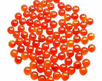 10 Pieces 5mm Carnelian Cabochon Round Gemstone - Carnelian Round Cabochon gemstone - Orange Carnelian Cabochon Round Loose Gemstone