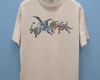 Vintage Batman And Robin Superhero Cartoon Shirt DC Comic Street wear hip hop funky Funny Shirt Size L