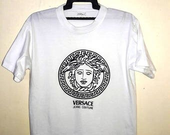 FREE SHIPPING Vintage 90's Versace Jeans Couture Shirt Medium size