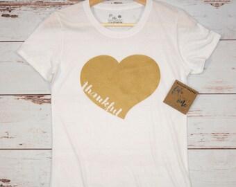 Thankful Women's T-Shirt, V-Neck, Tank, Hoodie, Mother's Day Gift, Heart T-Shirt, Birthday Gift, Womens Clothing, Women's Tee, Graphic Tee