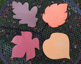 Set of 4 Fall Leaf Decor