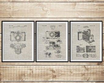 Camera Patent Poster, Patent Print Set, Camera Wall Print, Vintage Camera Decor, Camera Wall Decor, Antique Camera Decor, INSTANT DOWNLOAD