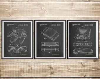 Nintendo Art Print, Patent Print Group, Gamer Art Poster, Nintendo 64 Print, N64 Console Print, Nintendo Wall Decor, N64, INSTANT DOWNLOAD