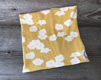 neck flower yellow infinity scarf