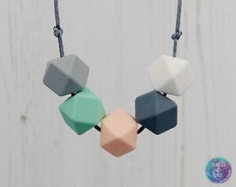 Sensory Silicone Necklace, Teething Necklace, Mum Jewellery, Breastfeeding Necklace, Teething Jewellery, New Mum Present, Baby Shower Gift