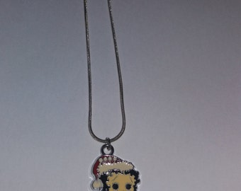 Vintage Christmas Betty Boop pendant and chain free shipping