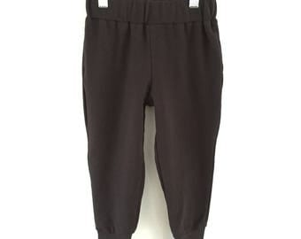 Cozy Black French Terry Sweatpant Joggers- Sizes 2T-12