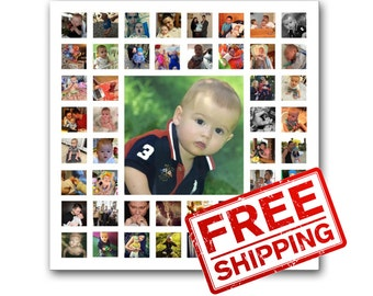 Children collage on canvas Gift of 1 birthday Personalized gift