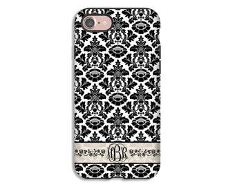 iPhone 8 case, damask iPhone 8 Plus case, monogram iPhone X case, iPhone 7 Plus case, iPhone 7 case, iPhone 6s plus case, iPhone 6s case