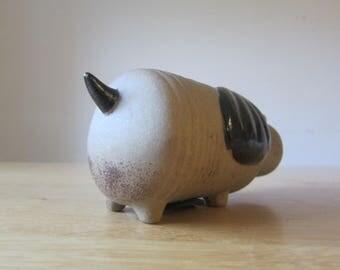 Dog - ceramic figure money box vintage 70 s design
