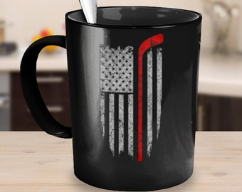 Hockey Mug - Hockey Fan - Love of Country and Hockey