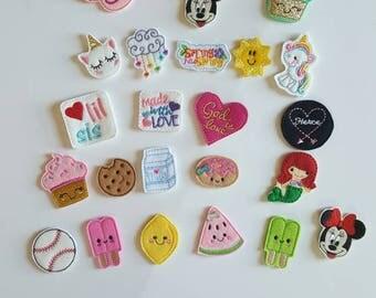 Feltie Clips, Hairclips, lined clip, Easter, peep, St patricks Day. hair, clip, cookies, milk, lemon, clippies, felties, minni, peppa pig,