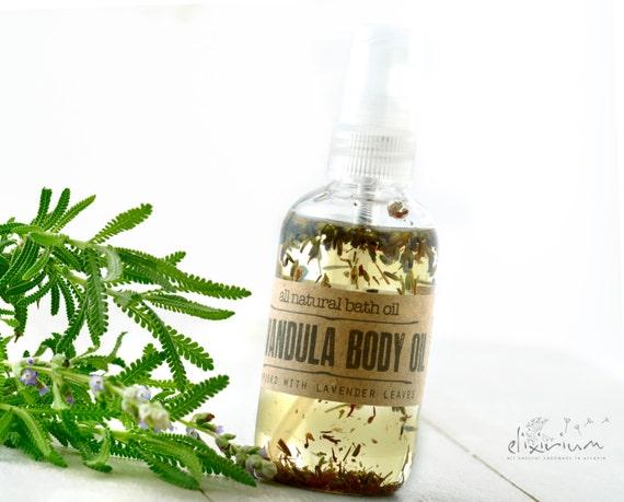 Lavandula BODY OIL • Lavender Organic Massage oil, Lavender Organic Bath oil, All natural skin care, Aromatic Lavender body oil, Elixirium