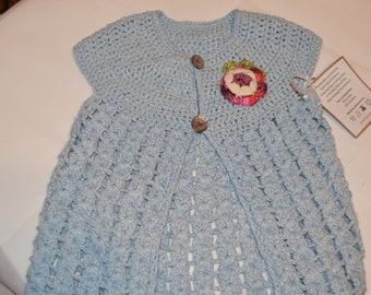 3 - 4 Years Old Girls' Light Blue Cardigan