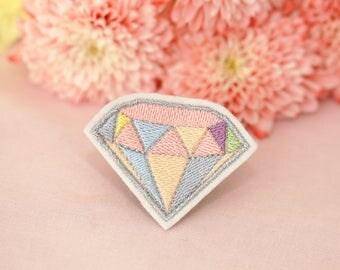 Diamond Patch - Iron-On - Pastel - Gemstone