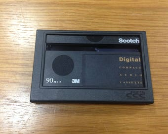 Scotch DCC 90 Minutes Digital Compact Cassette - Used - with case + insert