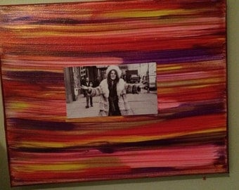 One of a kind Janis Joplin on handpainted 8x10 canvas