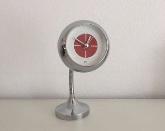 Space age clock chroom retro mod vintage design klokje wandklok pop art