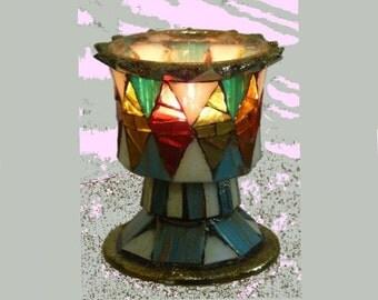 Votive Candle Holder, Tealight Holder, Mosaic Candle Holder, Candles & Holders, Stained Glass Mosaic, Mosaic Art