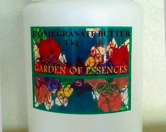 Pomegranate Body Butter Organic, Pomegranate Extract, Pomegranate Cream. Pomegranate Cosmetic Base, Pomegranate Lotion, Paraben Free Butter