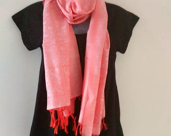 Red Scarf, Red Silk Scarf, Lap Scarf, Scarf for Women, Gift Ideas For Friends, Womens Scarf, Scarves and Wraps