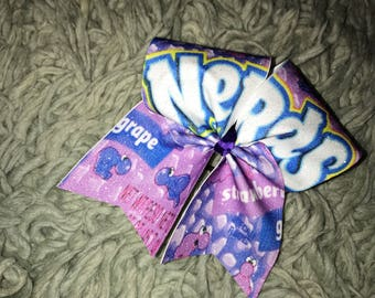 Nerds Cheer Bow~Nerds~Willy Wonka~Candy Bow~Glitter Hair Bow~Cheer Bow~Cheerleading Bow