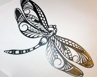 Dragonfly metal wall, garden, patio art, metal art.