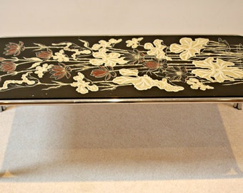 SALE! 1970s statement table featuring striking lily design