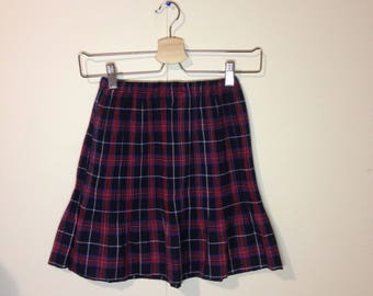 mini high waisted tartan skirt