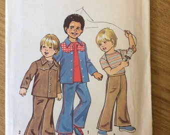 Simplicity 6122 1973 Vintage Boys' / Child's Jacket, Trousers and T-shirt Sewing Pattern 4