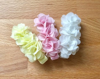 Baby hair clips chiffon flower hair clips baby girls Barrettes non slip baby hair clips pink white yellow flower hair clip baby accessories
