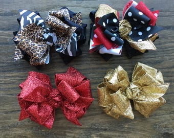 Boutique layered hair bow