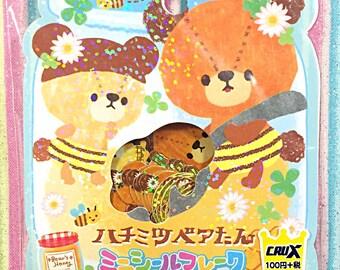 Bear's Honey sticker sack - kawaii sticker sack - Crux - sticker flakes