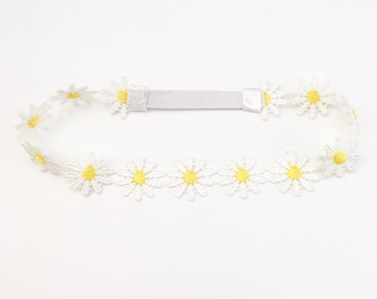 Daisy Headband - Boho Headband - Boho Flower Crown - Flower Crown - Headbands for Girls - Toddler Headband - Adult Headbands