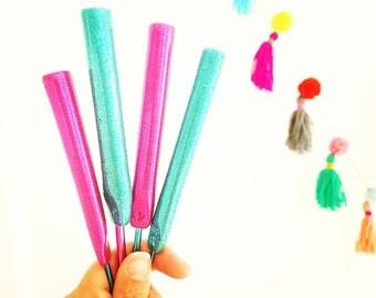 Polymer Clay Ergonomic Glitter Crochet Hooks 3mm-6mm- made to order