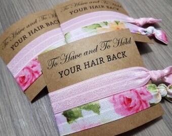 Hair Tie Bridal Shower Favor   Bridesmaid Hair Tie Favor   To Have and To Hold Favors   Hair Tie Bridesmaid Gift