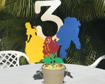 Beauty and the Beast Centerpiece | Beauty & the Beast Birthday Party | Belle Centerpiece |