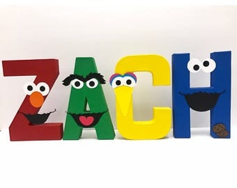 Sesame Street Birthday Letters | Elmo | Cookie Monster | Big Bird | Birthday Letters | Sesame Street Birthday | Photo Prop