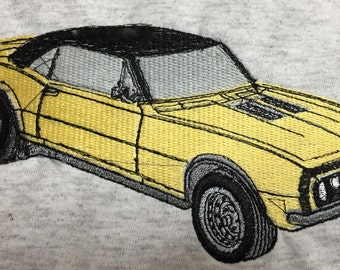 "Embroidered ""Classic Car Camero"" Shirt"