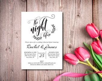 Rehearsal Dinner Invitation, Party Invitation, Rustic, Kraft Invitation, Template, DIY EDITABLE PDF, Printable Instant Download E112A